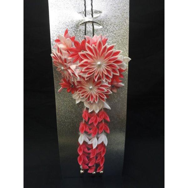 画像1: 髪飾り(ピンク色、赤色) (1)