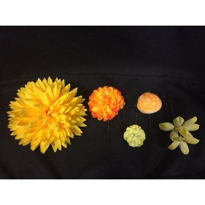 画像2: 髪飾り(ピンク色、黄色)